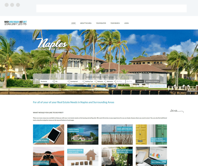 Your Naples Expert Weebly Site with IDX Broker