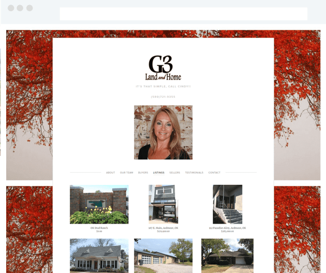 G3 Land and Home Squarespace Real Estate Site with IDX Broker Listings