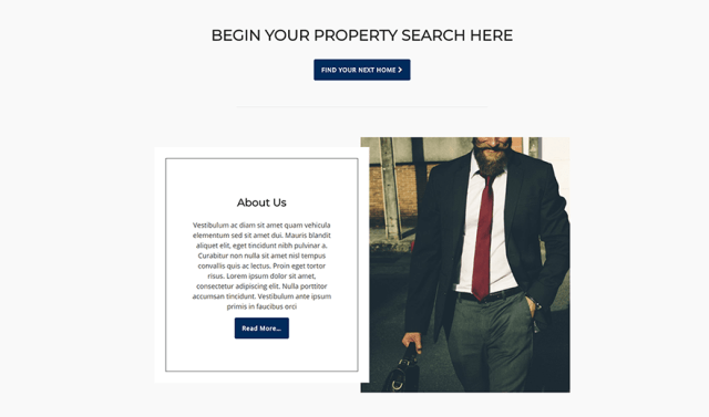 Sweet Home Pro featured page widget full real estate wordpress and idx broker website setup