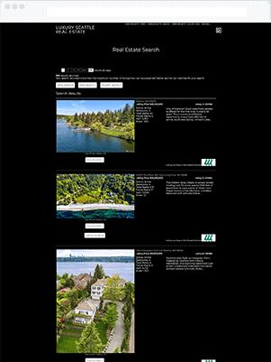 seattle luxury results template idx broker customization