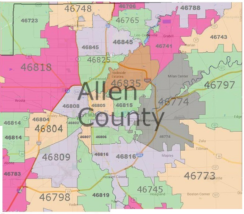 allen county real estate by zip code map fort wayne real estate
