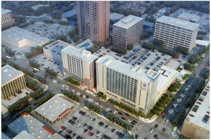 Rendering of Hyatt Galleria, which is being built next door to the Galleria mall in Houston.