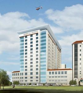 Rendering of Memorial Hermann facility planned for Texas Medical Center in Houston.