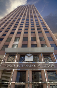 Wedge International Tower is being renamed 1415 Louisiana.