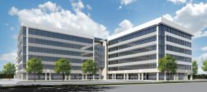 Rendering of six-story office building under development in  Memorial CIty.