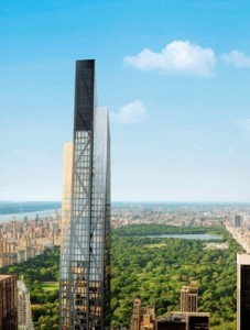 Rendering of 53W53, Hines' proposed condo tower in New York. Credit: Hayes Davidson
