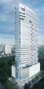 Rendering of proposed Randall Davis condo tower in Houston.