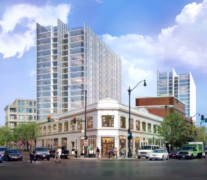 Rendering of Children's Memorial Hospital redevelopment project in Chicago.