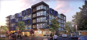 Rendering of Transwestern Development's multifamily project in Austin.