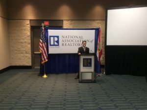Lawrence Yun, chief economist of the National Association of Realtors, speaks to reporters at the NAR convention in Orlando Friday. (Photo by Ralph Bivins, Realty News Report)