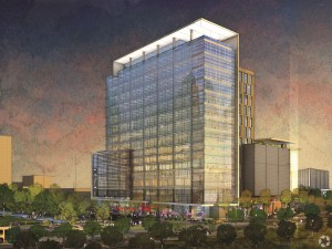 Kirby Grove is an office tower with restaurant space developed by Houston-based Midway Cos.