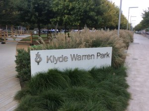 Built over a depressed freeway in downtown Dallas, the Klyde Warren Park is popular with citizens. New high-rise buildings are being constructed around the park. Photo: Ralph Bivins.