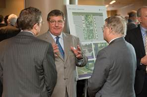 Danny Miller of HFF was one of a number of Houston business leaders at the Missing Mile event.