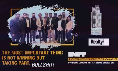 init design studio mumbai wins :the prestigious realty plus excellence awards 2017