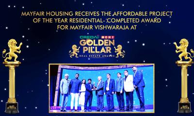 Mayfair Housing Wins CREDAI MCHI Golden Pillar Awards for Mayfair Vishwaraja