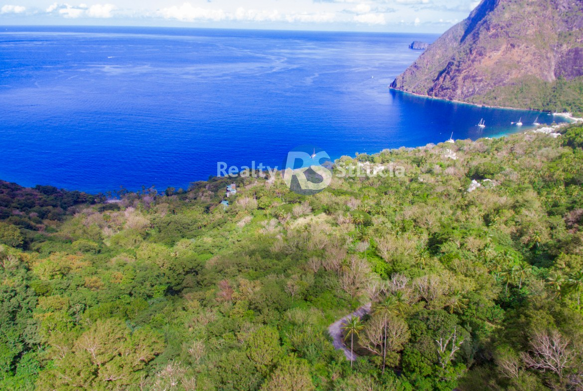 beachfront land for sale in st lucia
