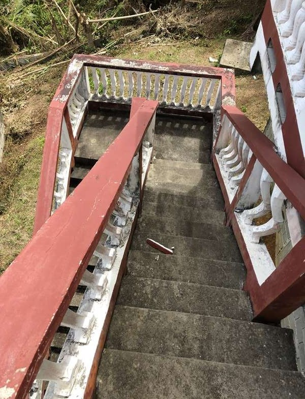 main steps Fixer Upper House For Sale St Lucia, Mon Repos Micoud