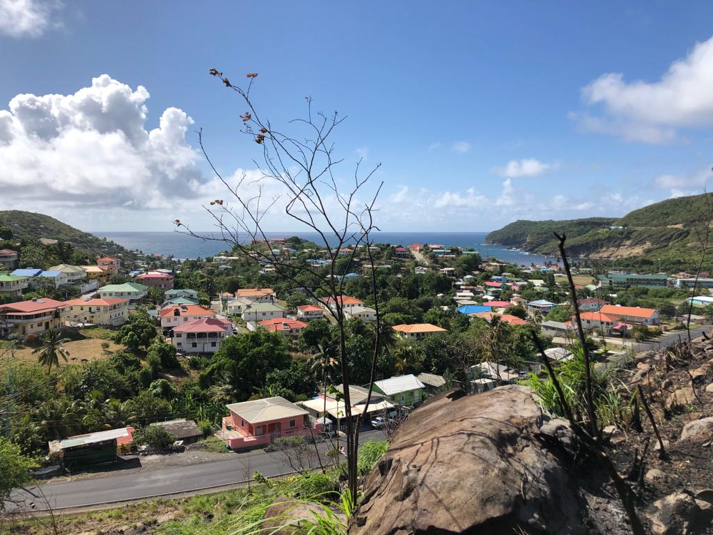 Land for sale in dennery with stunning ocean views