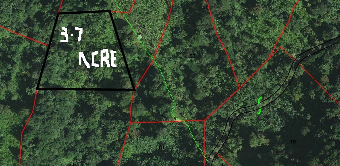 3.7 Acrres farm land for sale in dennery st Lucia