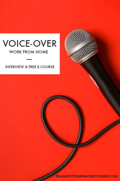 Work from home doing voice-overs - interview and free e-course. #voiceovers #voiceoverartist #ecourse #workfromhome