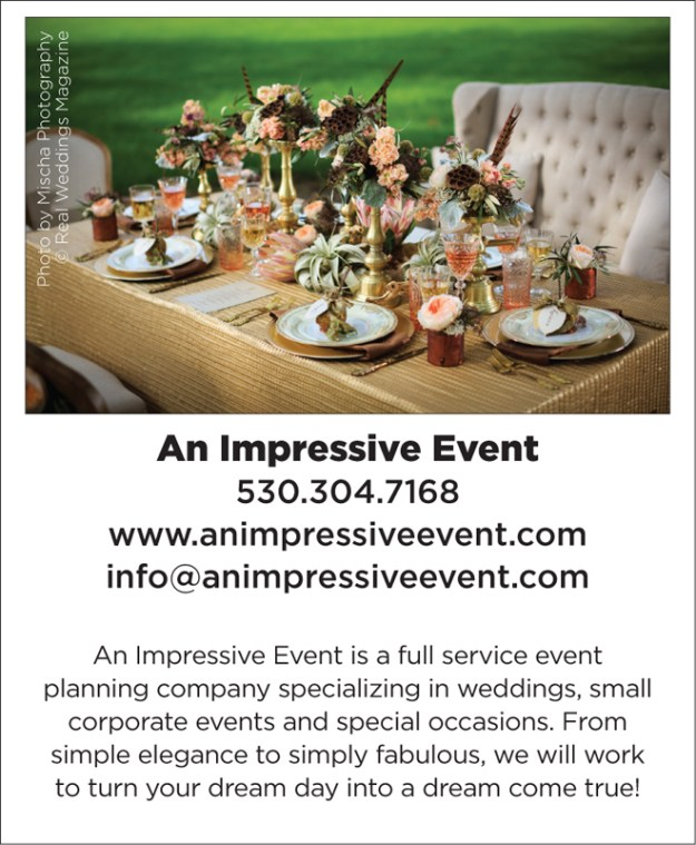 Sacramento Wedding Planner | Wedding Pro Spotlight | An Impressive Event | Woodland Weddings