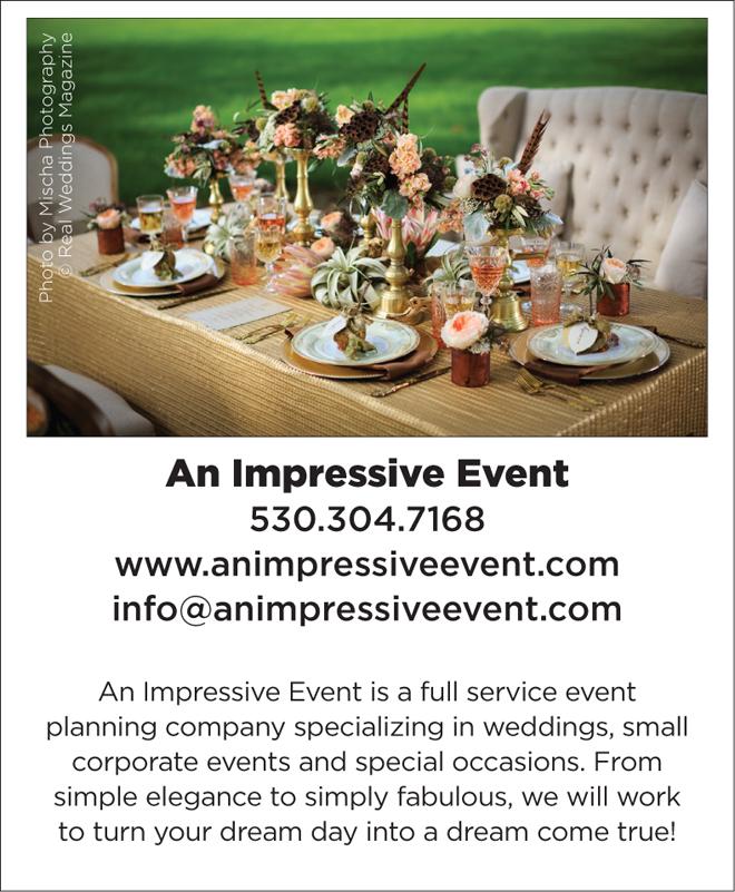Sacramento Wedding Planner   Wedding Pro Spotlight   An Impressive Event   Woodland Weddings