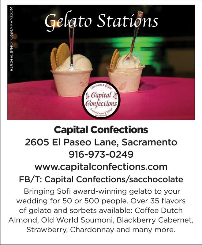 Sacramento Wedding Favors | Chocolates | Gelato Stations