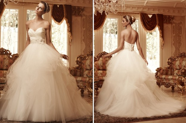 Real Weddings Dazzling Dresses: Classic and Elegant Casablanca Gowns