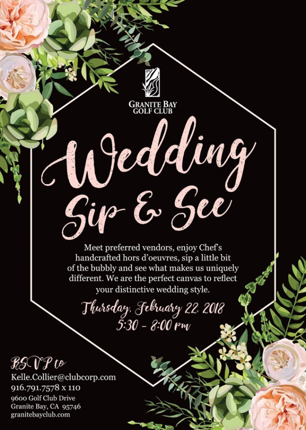 Granite Bay Golf Club | Wedding Sip & See | Sacramento Wedding Event | Granite Bay Weddings