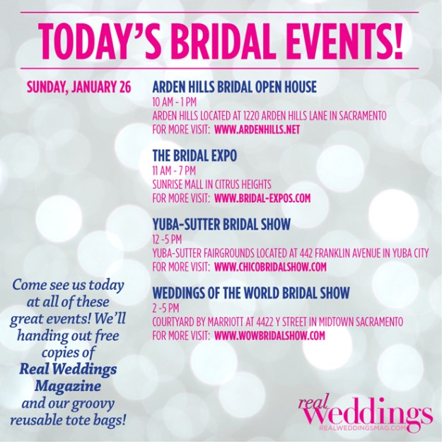 Today's Bridal Events!