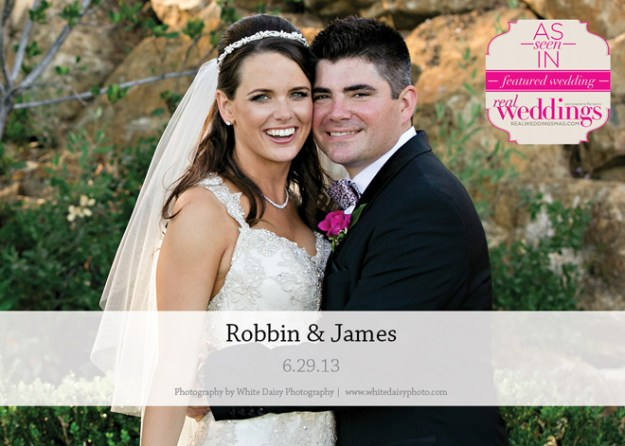 Featured Real Wedding: Robbin & James {from the Summer/Fall 2014 Issue of Real Weddings Magazine}