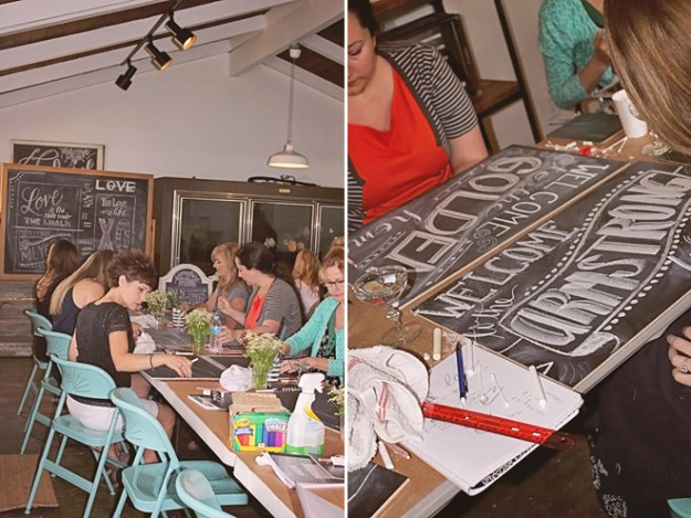Chalk Workshop at Thistle & Honey on www.realweddingsmag.com 9