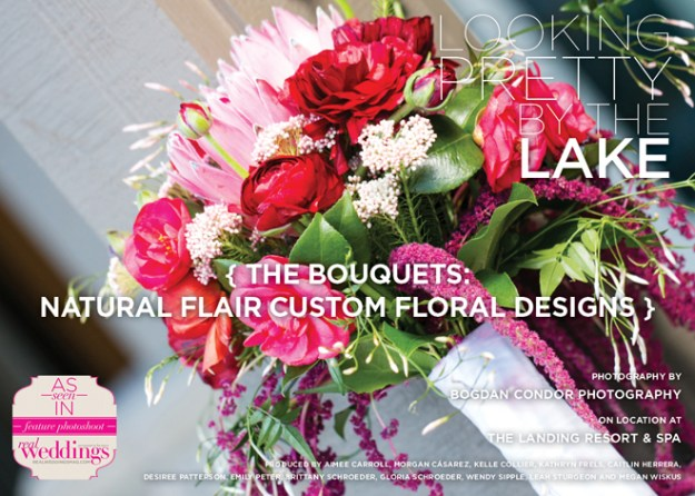 Sacramento Wedding Flowers: Looking Pretty by the Lake {The Bouquets: Natural Flair Custom Floral Designs}