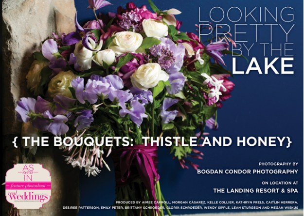 Looking Pretty by the Lake: {The Bouquets: Thistle and Honey}