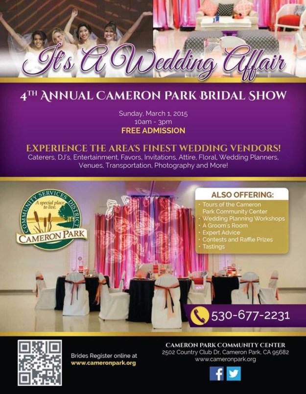 Sacramento Wedding Event: Reminder {It's A Wedding Affair, Cameron Park Bridal Show}