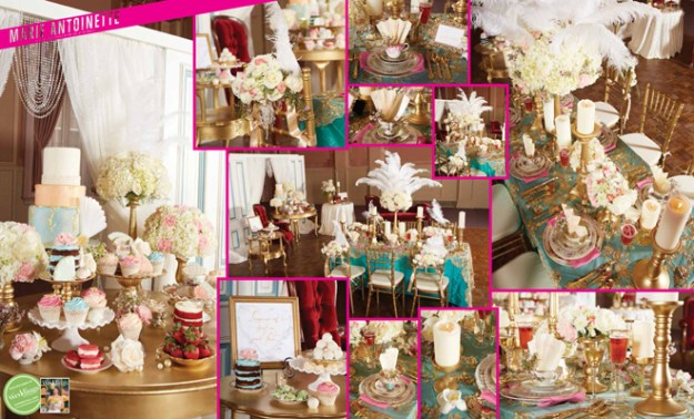 "As seen in the ""Marie Antoinette"" styled shoot in the Summer/Fall 2015 issue Real Weddings Magazine, www.realweddingsmag.com"