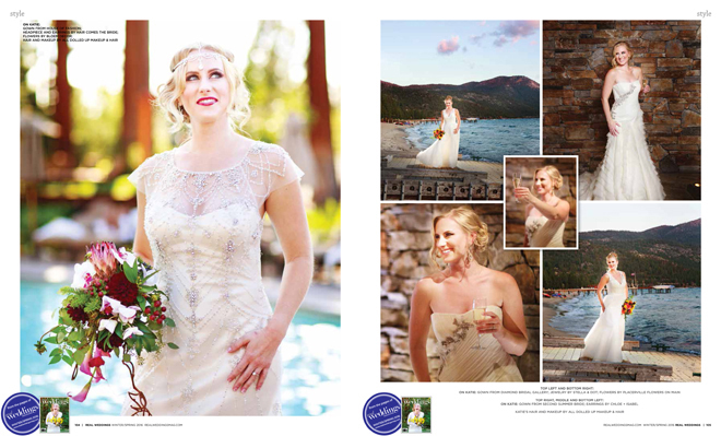 """As seen in the """"Something Blue"""" cover model contest finalist photo shoot in the Winter/Spring 2016 issue Real Weddings Magazine, www.realweddingsmag.com"""