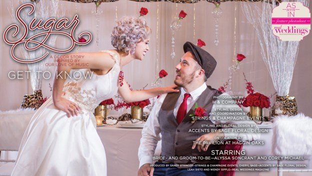 Sacramento Wedding Inspiration: Sugar-A Decor Story Inspired by our Love of Music {Get to Know Our Real Couple Models}