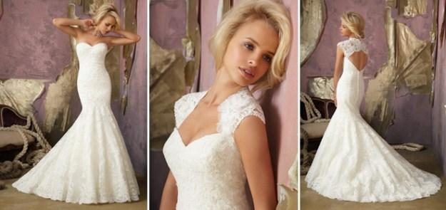 Alencon Lace Removable Keyhole Coverlet_Alma's_Bridal_Boutique