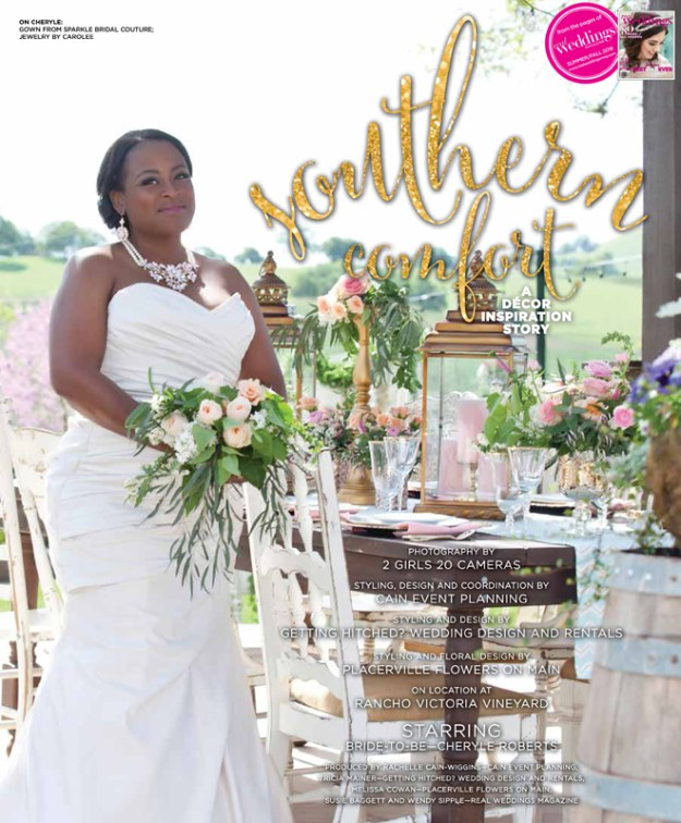 Sacramento Wedding Inspiration: Southern Comfort {The Layout} from the Summer/Fall 2016 issue of Real Weddings Magazine