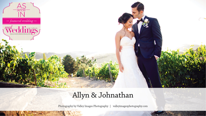Sonoma Wedding Inspiration: Allyn & Johnathan {From the Winter/Spring 2017 Issue of Real Weddings Magazine}