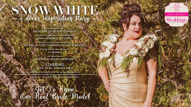 Sacramento Wedding Inspiration: Snow White {Get to Know Our Real Bride Model} from the Winter/Spring 2017 issue of Real Weddings Magazine