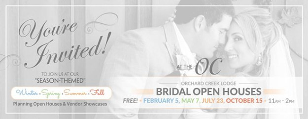 Lincoln Wedding Event: {Reminder} Attend the Fall Bridal Open House at Orchard Creek Lodge for FREE!