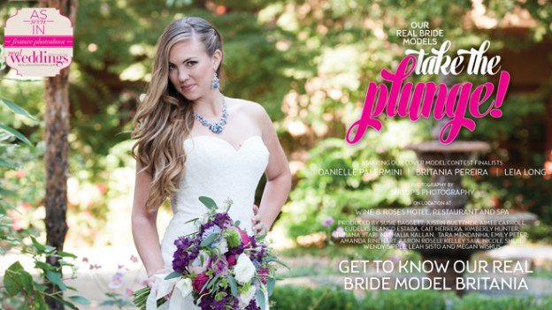 Sacramento Wedding Inspiration: Take The Plunge {Get to Know Our Real Bride Model Britania} from the Winter/Spring 2017 issue of Real Weddings Magazine
