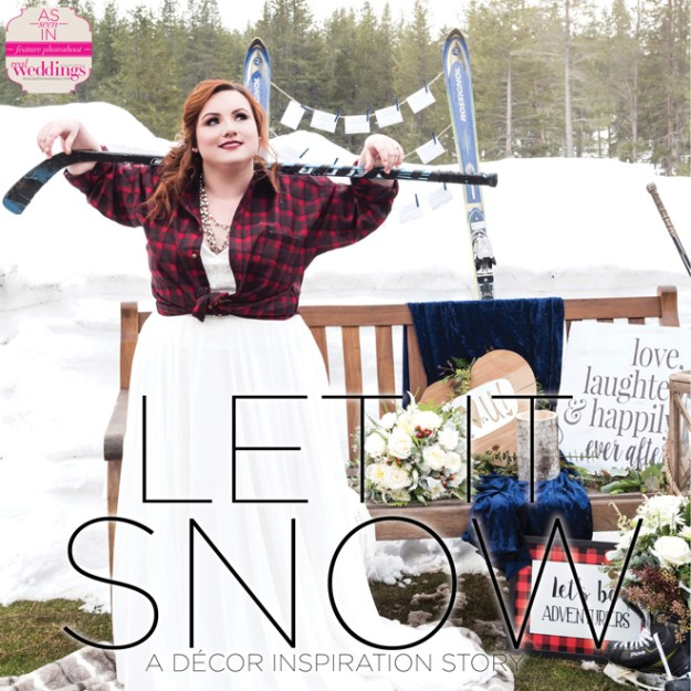 Tahoe Wedding Inspiration: Let it Snow {The Layout} from Real Weddings Magazine