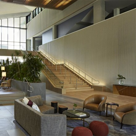 Kimpton Sawyer Hotel Staircase-Modern Urban Ballroom Sacramento Wedding Venue