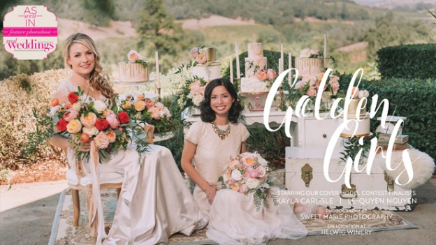 Sacramento Wedding Inspiration:  Golden Girls {The Layout} from the Winter/Spring 2018 issue of Real Weddings Magazine