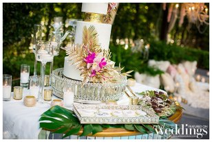 Tropical Paradise as seen in the Winter/Spring 2019 issue of Real Weddings Magazine, photographed by Ashley Teasley Photography on location at the Hyatt Regency Sacramento.