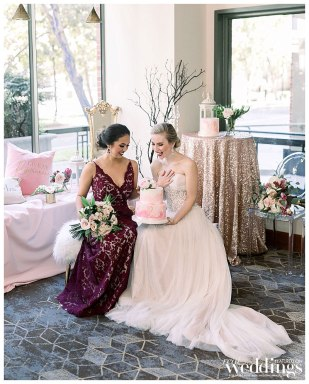 Grand Dames was photographed by Ty Pentecost Photography on location at the Grand Sheraton Hotel Sacramento for Real Weddings Magazine.