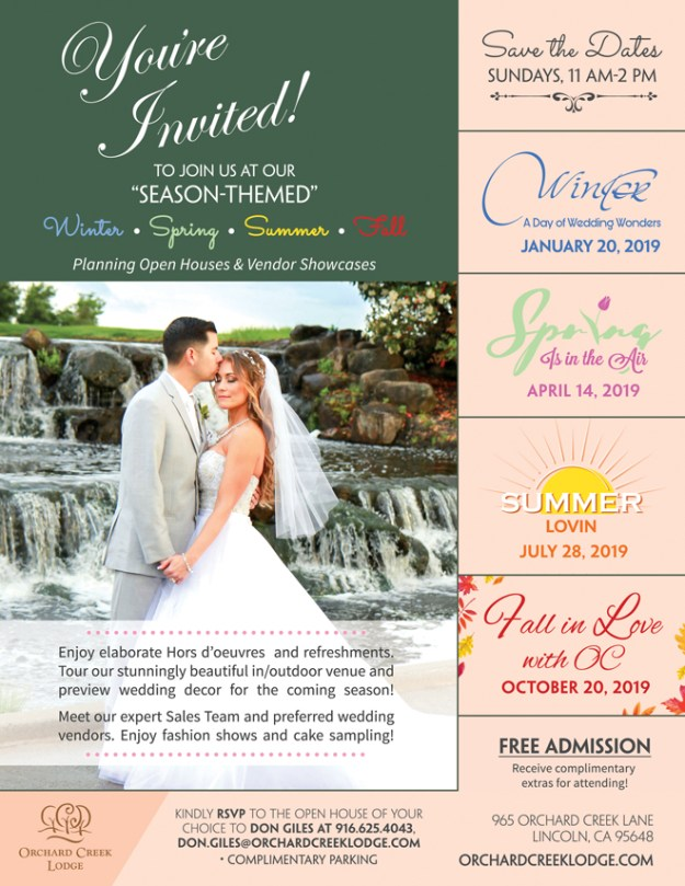 Lincoln Wedding Show | Lincoln Wedding Venue | Orchard Creek Lodge